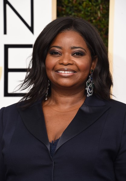 Octavia Spencer arrives at the 74th annual Golden Globe Awards, January 8, 2017, at the Beverly Hilton Hotel in Beverly Hills, California. / AFP / VALERIE MACON