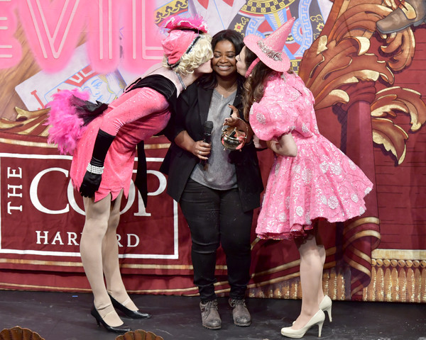 Actors Darren LaPointe and Wynne Stagnaro present Actress Octavia Spencer with her Woman of the Year award at the The Hasty Pudding Theatricals Celebration Honoring Octavia Spencer as 2017 Woman Of The Year on January 26, 2017 in Cambridge, Massachusetts.
