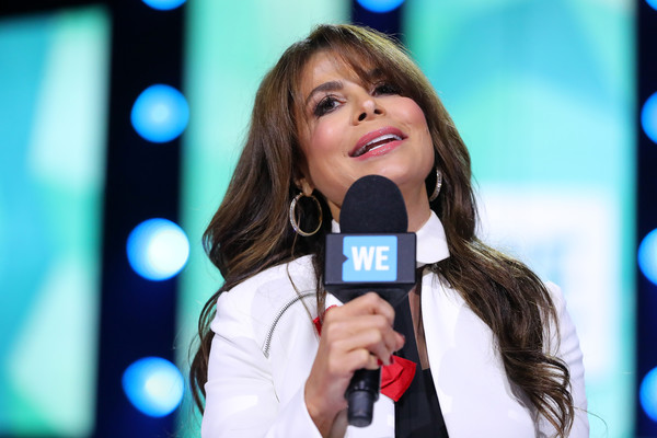 Paula Abdul walks on stage during WE Day Minnesota at Xcel Energy Center on September 20, 2016 in St Paul, Minnesota.