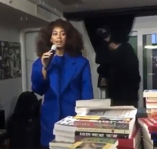 Solange Knowles at Sankofa Video Books & Cafe