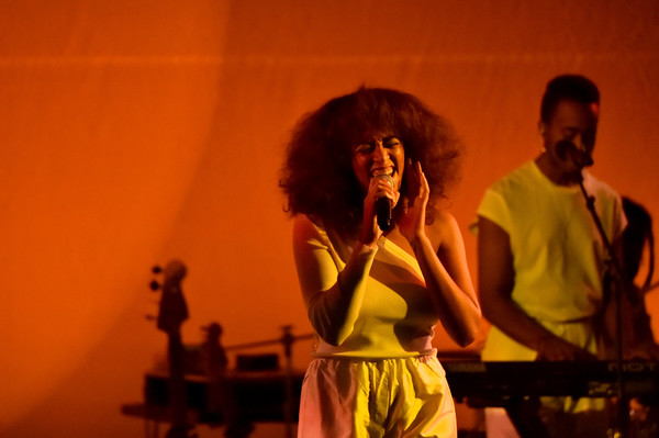 Singer Solange Knowles performs onstage at the Busboys and Poets' Peace Ball: Voices of Hope and Resistance at National Museum Of African American History & Culture on January 19, 2017 in Washington, DC.