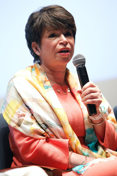 Valerie Jarrett, White House Senior Advisor to U.S. President Barack Obama, speaks at an UNDER THE GUN post-screening panel discussion at the Burke Theater at the U.S. Navy Memorial on May 11, 2016 in Washington, DC.