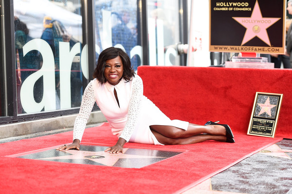 Actress Viola Davis attends a ceremony honoing her with a star on the Hollywood Walk of Fame on January 5, 2017 in Hollywood, California.