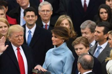 donald trump sworn in as president