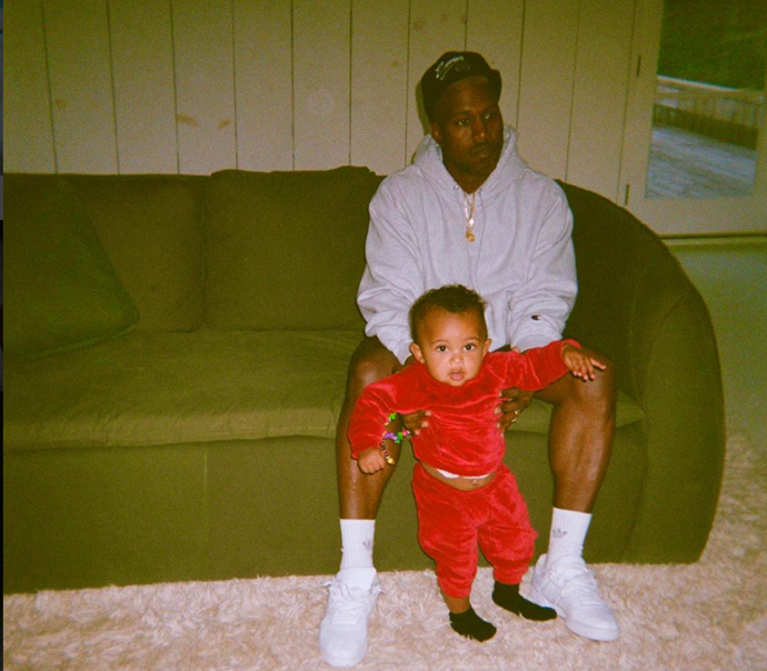 kanye with son saint