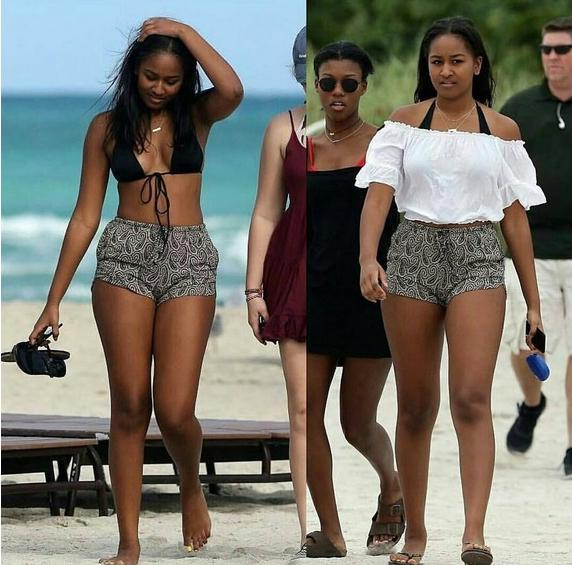 Sasha Obama Hits Miami Beach For Girls Weekend PHOTOS