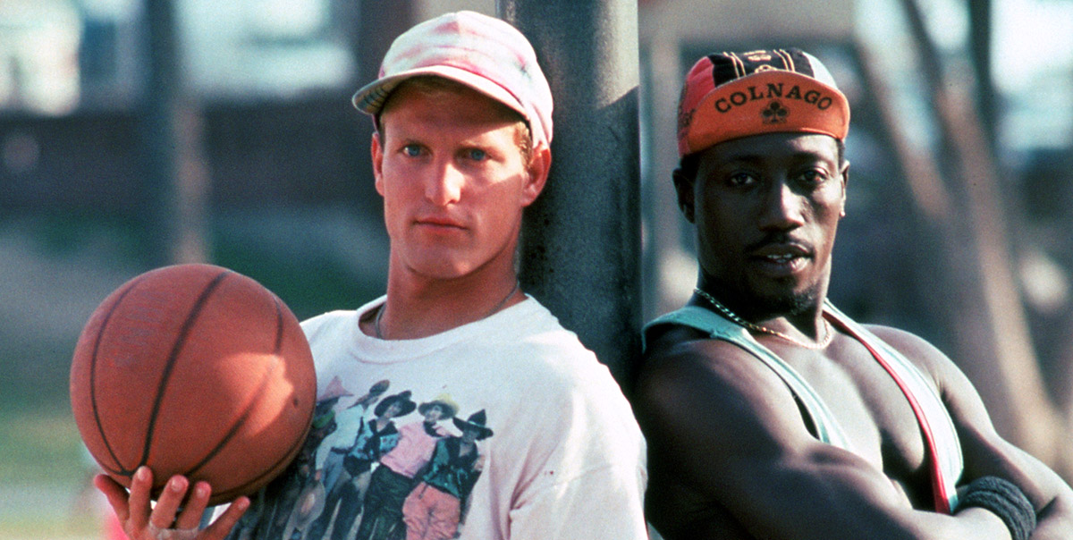 "Woody Harrelson and Wesley Snipes in ""White Men Can't Jump"""