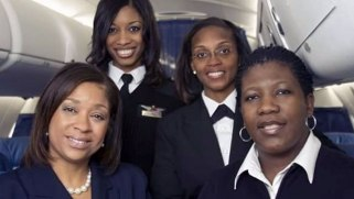 1st All African American Female Commerical Flight Crew members