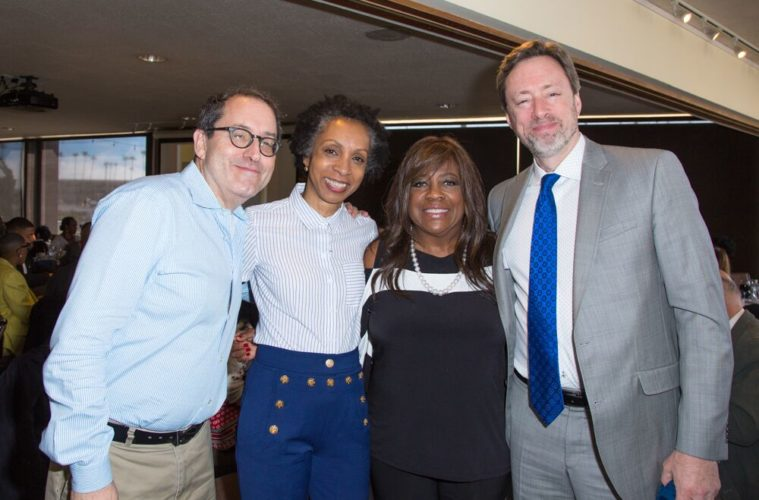 2017 AAFCA Special Achievement Awards Luncheon - Michael Barker, Nina Shaw, Chaz Ebert, and Michael Phillips, Film Critic Chicago Tribune