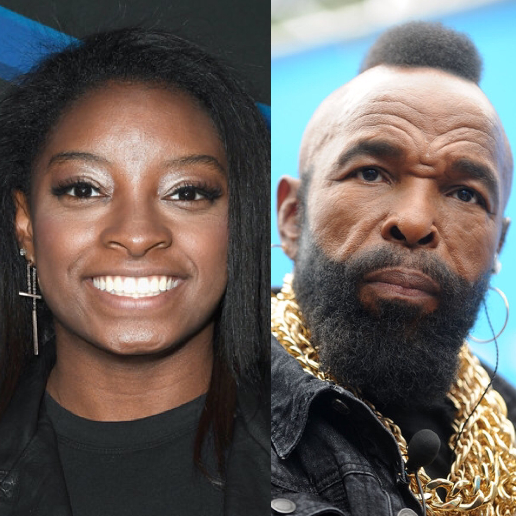 Simone Biles and Mr. T (Getty Images)