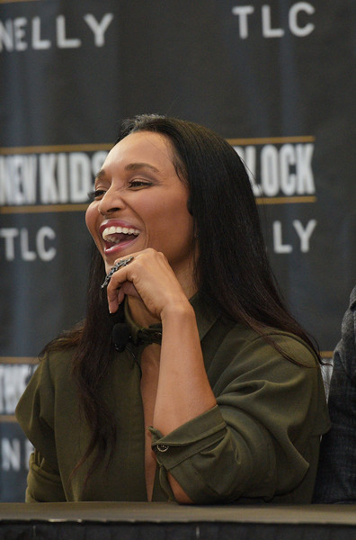 Chilli of TLC attends the New Kids On The Block Press Conference at Madison Square Garden on January 20, 2015 in New York City.