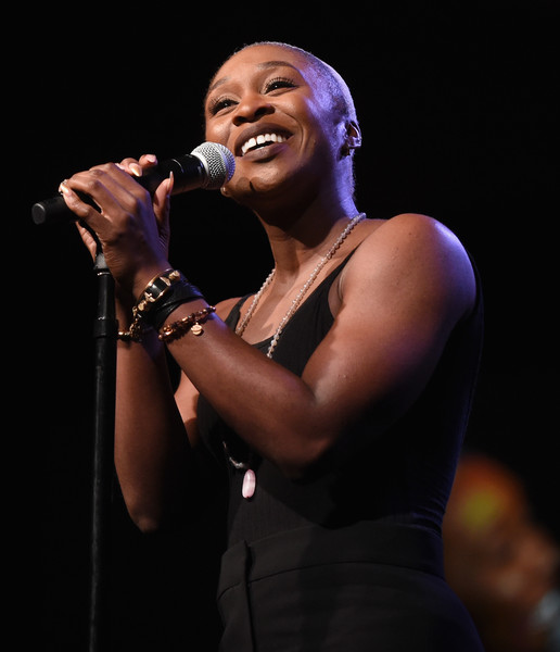 Actor Cynthia Erivo performs onstage during The 2017 MAKERS Conference Day 2 at Terranea Resort on February 7, 2017 in Rancho Palos Verdes, California.