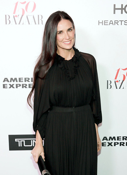 Demi Moore attends Harper's BAZAAR celebration of the 150 Most Fashionable Women presented by TUMI in partnership with American Express, La Perla, and Hearts On Fire at Sunset Tower Hotel on January 27, 2017 in West Hollywood, California.