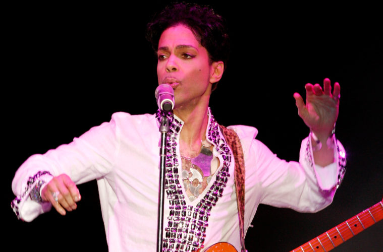 INDIO, CA - APRIL 26: Prince performs during day 2 of the Coachella Valley Music And Arts Festival held at the Empire Polo Field on April 26, 2008 in Indio, California. (Photo by Kevin Winter/Getty Images)