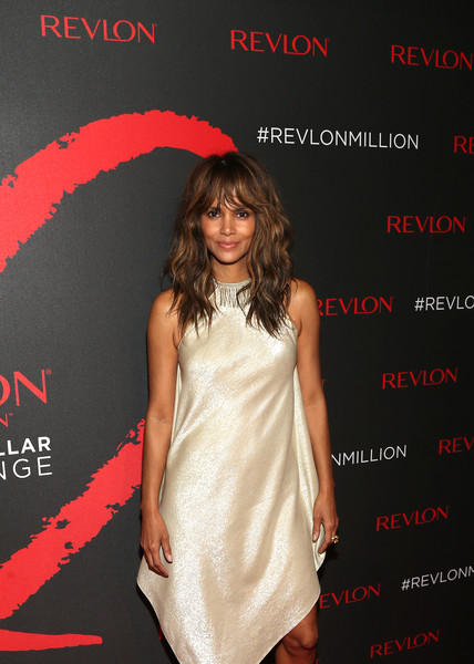 Revlon Global Brand Ambassador Halle Berry celebrates the success of Revlon's 2nd Annual LOVE IS ON Million Dollar Challenge.