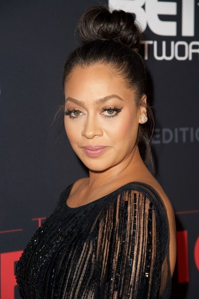 """Actress La La Anthony attends BET's """"The New Edition Story"""" Premiere Screening on January 23, 2017 in Los Angeles, California."""