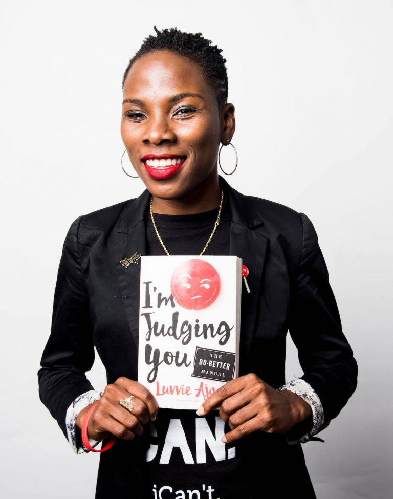 "Luvvie Ajayi and her book ""I'm Judging You"""