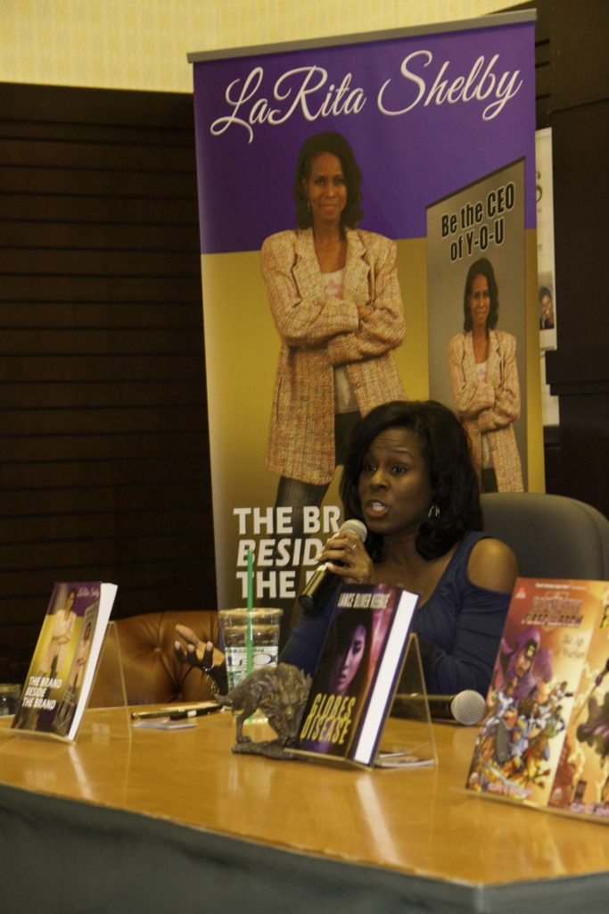 LaRita Shelby, author of The Brand Beside The Brand at Barnes & Noble at The Grove Los Angeles. Feb. 23, 2017 Photo credit: Curtis Sabir