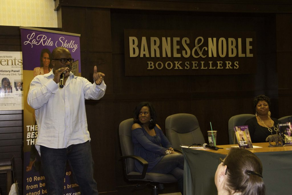 Lance Oliver Keeble, author of Globes Disease discusses his book at Barnes & Noble at The Grove Los Angeles. Feb. 23, 2017 Photo credit: Curtis Sabir