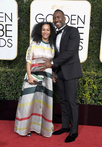 Actor Mahershala Ali (R) and Amatus Sami-Karim attend the 74th Annual Golden Globe Awards at The Beverly Hilton Hotel on January 8, 2017 in Beverly Hills, California.