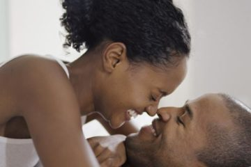 black couple-intimate