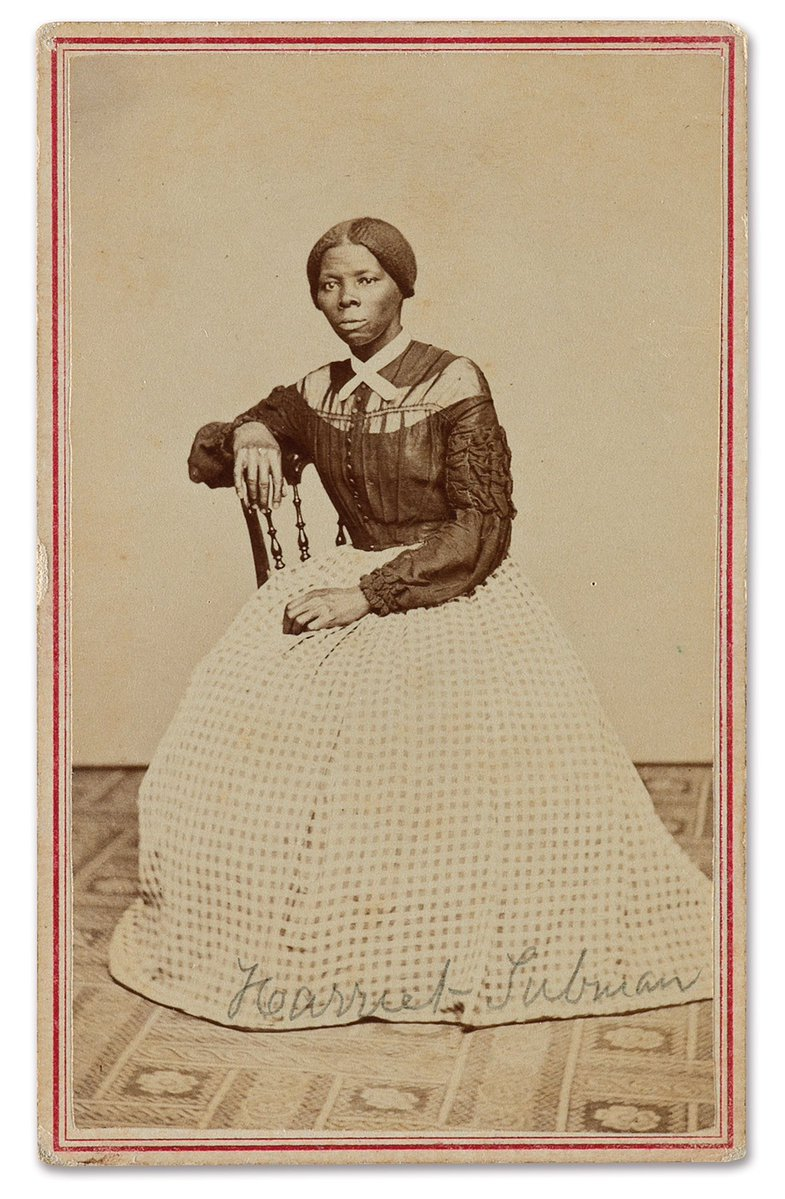 Harriet Tubman believed to be aged between 43 and 46 years old