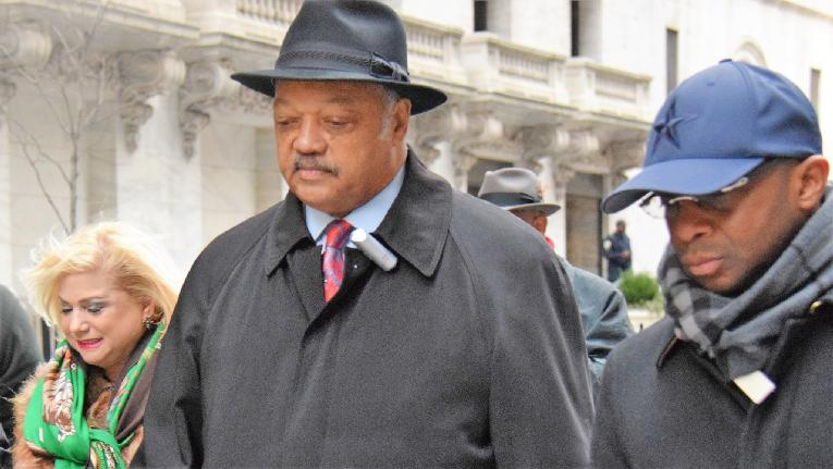 jesse jackson - nyc outside with hat on