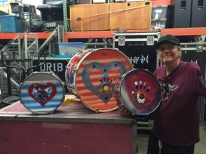 Two-time American Music Award winning drummer Rick Allen's 'Drums for Peace' Exhibit at Wentworths.