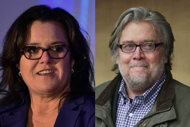 Rosie O'Donnell and Steve Bannon