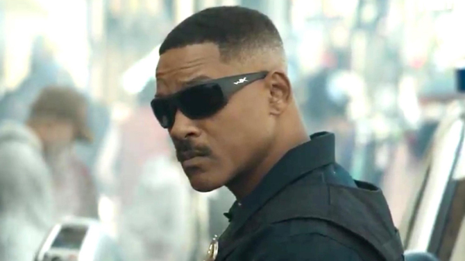 """Will Smith in the Netflix film """"Bright"""""""