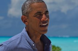 The President of the United States, Barack Obama arriving on Midway Atoll Midway on September 1, 2016 to commemorate his use of the Antiquities Act to expand the boundaries of  the Papahānaumokuākea Marine National Monument.   The President gave interviews to National Geographic Magazine writer Craig Welch and to Dr. Sylvia Earle, National Geographic Explorer in Residence.