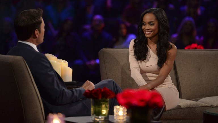 Chris Harrison and Rachel Lindsay on ABC's 'Women Tell All' reunion special