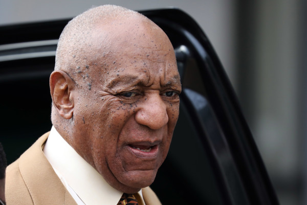 Comedian Bill Cosby arrives for a pre-trial hearing at the Montgomery County Courthouse in Norristown, Pennsylvania, on February 27, 2017