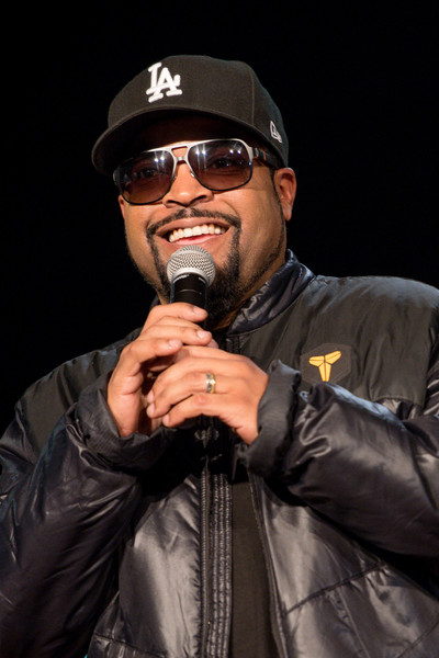 Actor Ice Cube speaks on stage during the FIST FIGHT take over at Clark Atlanta University for an HBCU Stroll-Off on February 16, 2017 in Atlanta, Georgia.