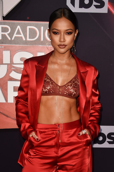 TV personality Karrueche Tran attends the 2017 iHeartRadio Music Awards which broadcast live on Turner's TBS, TNT, and truTV at The Forum on March 5, 2017 in Inglewood, California.
