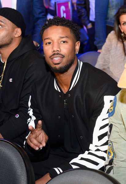 Actor Michael B. Jordan sits in the audience during Kovalev vs. Ward and D'USSE Lounge at T-Mobile Arena on November 19, 2016 in Las Vegas, Nevada.