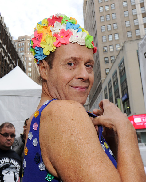 """Actor Richard Simmons attends """"Swim for Relief"""" Benefiting Hurricane Sandy Recovery - Day 2 at Herald Square on October 9, 2013 in New York City."""