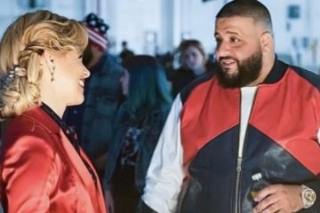 "Elizabeth Banks (L) and DJ Khaled of ""Pitch Perfect"""