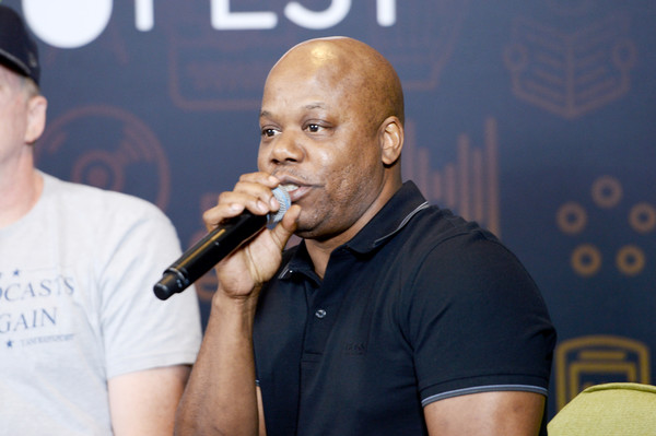 """Recording artist Too Short speaks onstage during the """"Too Short's Boombox"""" panel at Entertainment Weekly's PopFest at The Reef on October 29, 2016 in Los Angeles, California."""