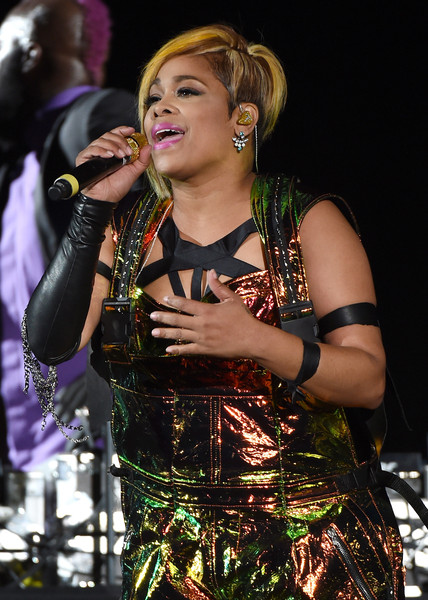 """Recording artist Tionne """"T-Boz"""" Watkins of TLC performs during the kickoff of The Main Event tour at the Mandalay Bay Events Center on May 1, 2015 in Las Vegas, Nevada."""