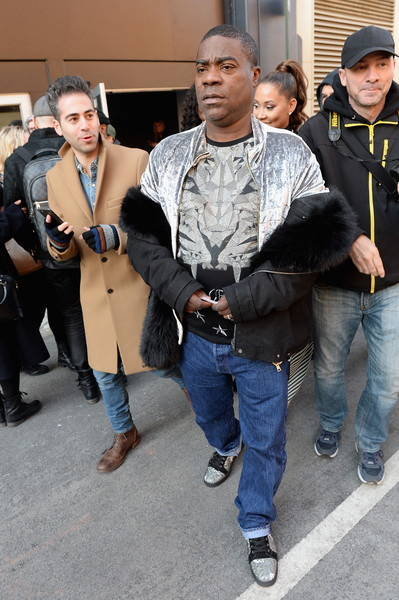 Comedian Tracy Morgan arrives at New York Fashion Week: The Shows on February 15, 2017 in New York City.