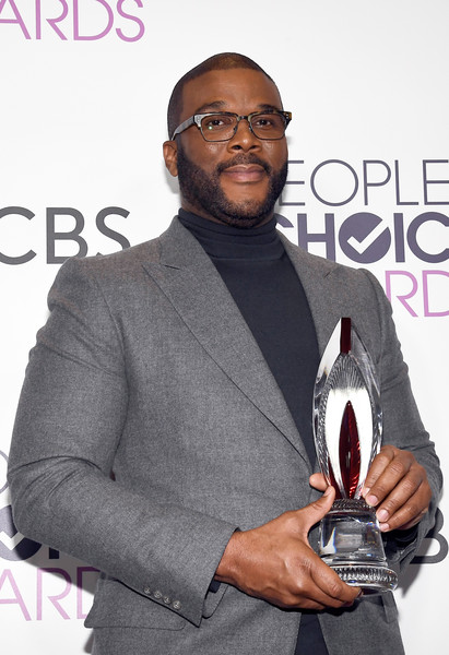 Actor/director Tyler Perry, winner of the Favorite Humanitarian Award poses in the press room during the People's Choice Awards 2017 at Microsoft Theater on January 18, 2017 in Los Angeles, California.