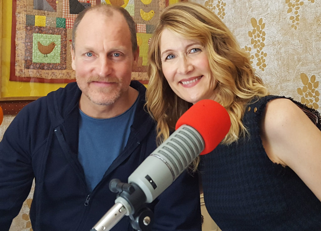 Woody Harrelson and Laura Dern at the Whitby Hotel. (MMoore Photo)