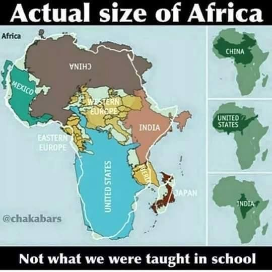 Census7 Actual Size Of Africa
