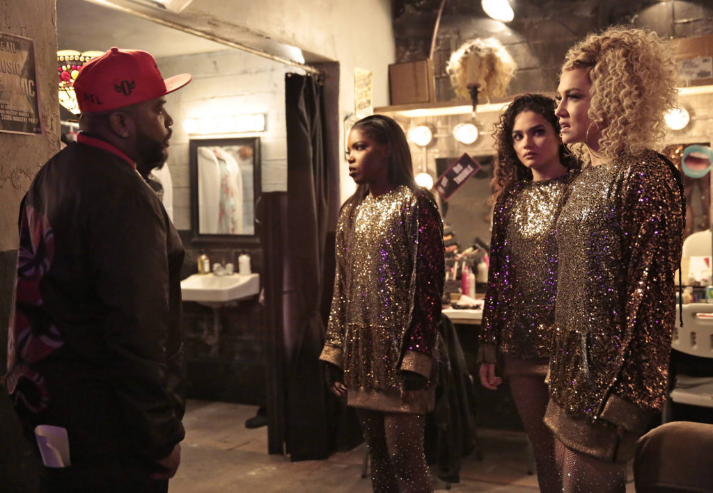 """STAR: Pictured L-R: Guest star Big Boi, Ryan Destiny, Brittany O'Grady and Jude Demorest in the """"Showtime"""" season finale episode of STAR airing Wednesday, March 15 (9:01 PM - 10:00 PM ET/PT) on FOX. ©2017 Fox Broadcasting Co. CR: Carin Baer/FOX"""