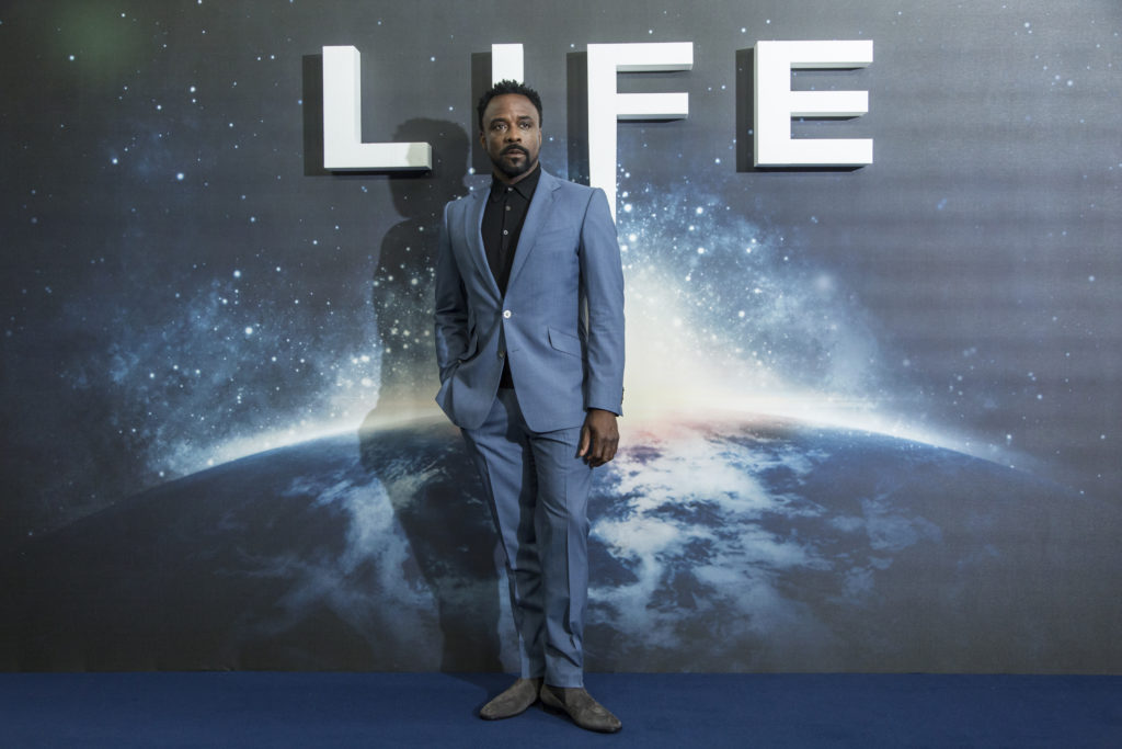 """Ariyon Bakare at Columbia Pictures """"LIFE"""" Photo Call at the Corinthia Hotel in London."""