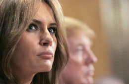 melania trump (with donald in bgrd)