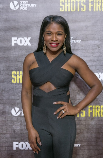 Edwina Findley Dickerson at the L.A. Premiere of 'Shots Fired' [photo: Nate Brown]