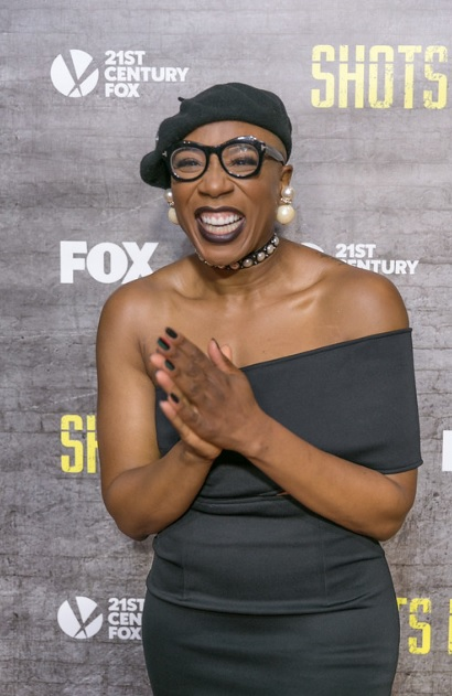Aisha Hinds at the L.A. Premiere of 'Shots Fired' [photo: Nate Brown]