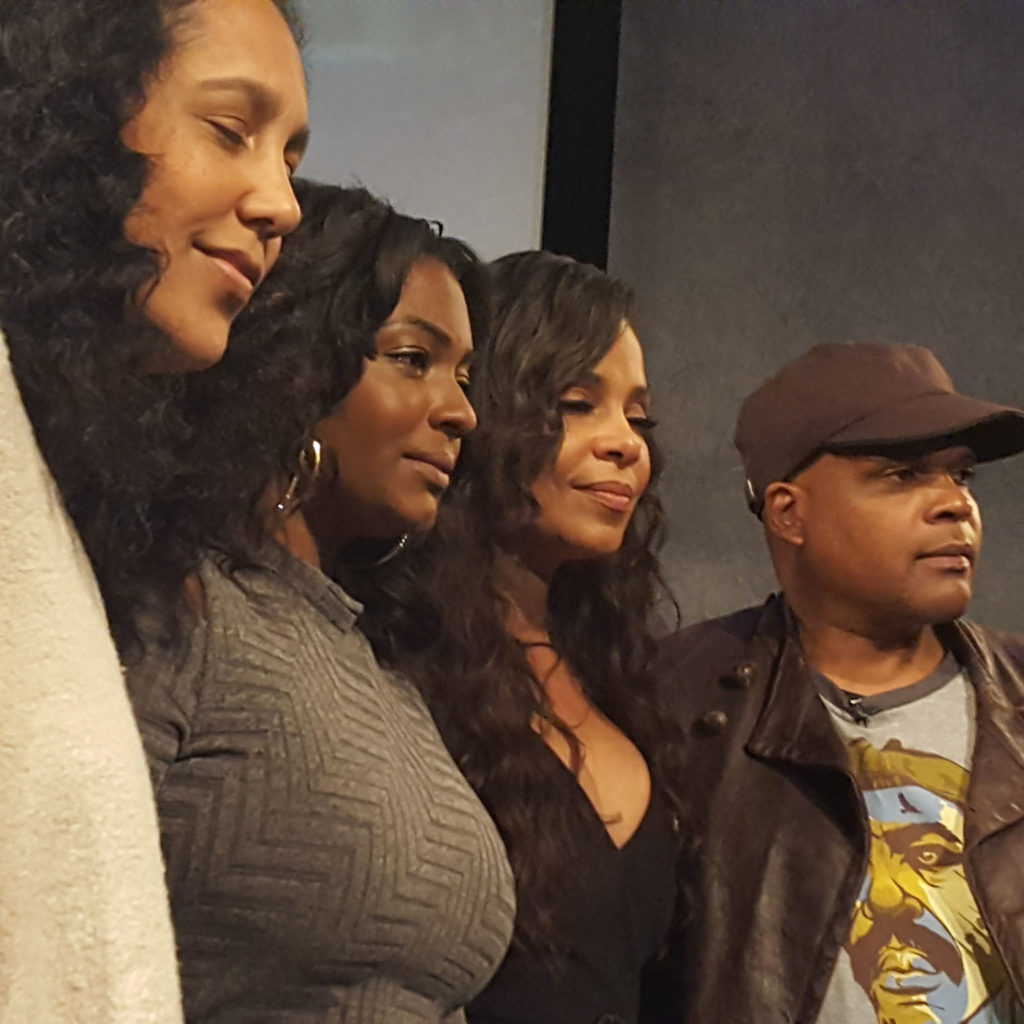 (L-r) Gina Prince-Bythewood, Nicole Paultre Bell, Sanaa Lathan, and Reggie Bythewood. (MMoore Photo)